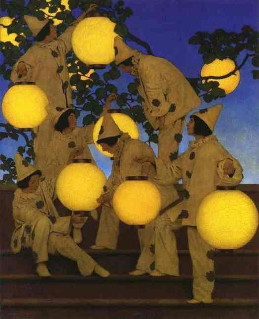 Maxfield Parrish, (1870 - 1966) The Lantern Bearers, 1908