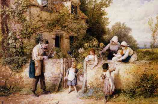 Myles Birket Foster - The Itinerant Fiddler