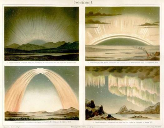 Northern Lights by Meyers Konv-Lexicon, 1870