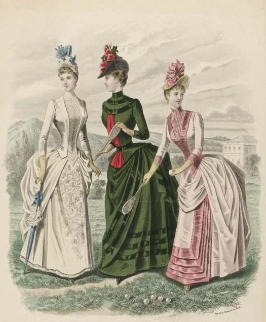 Revue de la Mode, Gazette de la Famille, dimanche 26 juin 1887, 16e Année, No. 808 Etoffes de la M.on Le Houssel, P. Deferneville, 1887