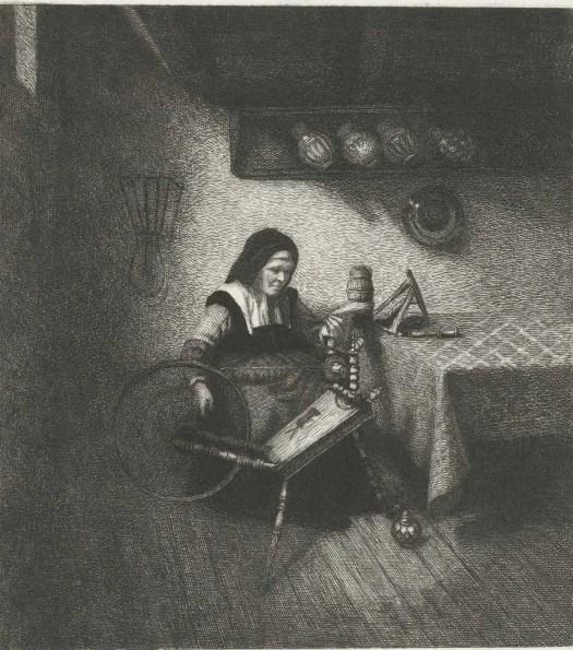 Spinster aan het werk, Leopold Löwenstam, 1852 - 1898