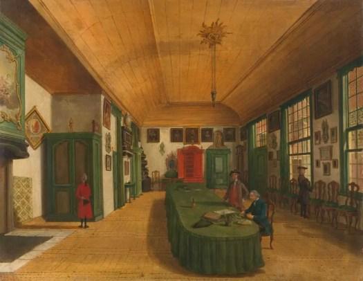 The Hall of the Artistic Society 'Kunst wordt door Arbeid verkregen' (Art is Acquired through Labor) in Leiden, Paulus Constantijn la Fargue, 1780