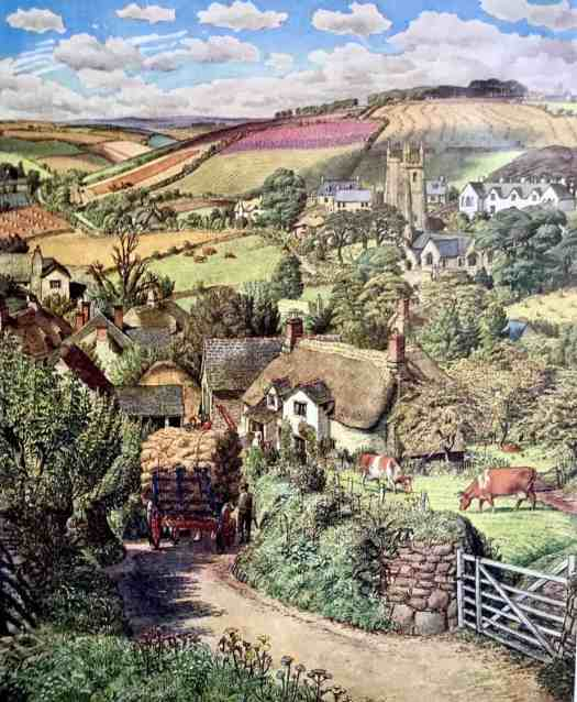 Here's a similar image from 'The South Hams of Devonshire' (1951) a Ladybird book illustrated by S.R. Badman.