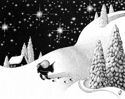 Virgil Finlay (1914 - 1971) 1938 illustration for 'Caminos' by Seabury Quinn