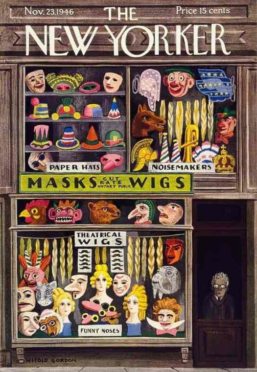 Witold Gordon (1885-1968) 1946 masks wigs