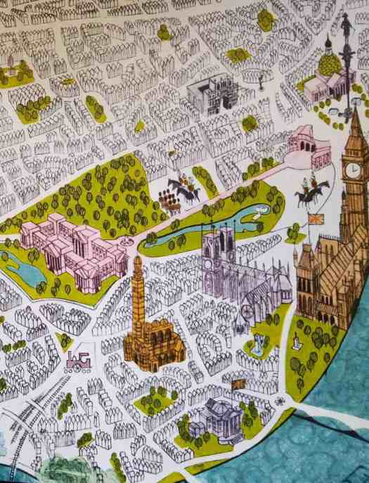 by Dale Maxey front endpaper for Seeing London 1964