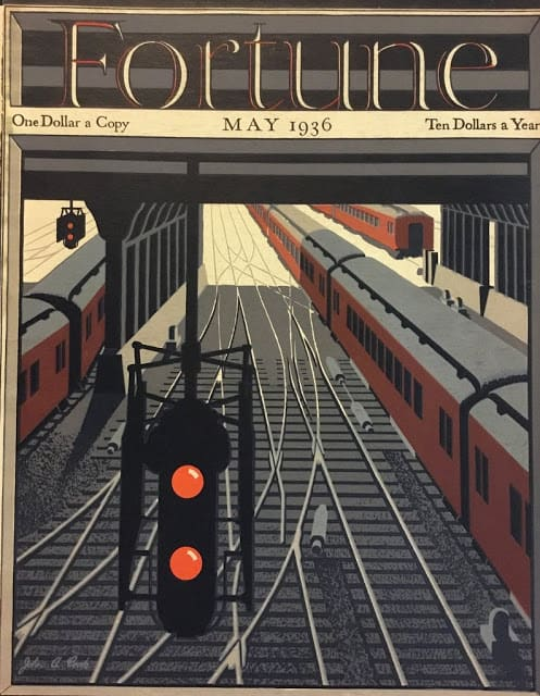 1936 May, cover by John A. Cook train