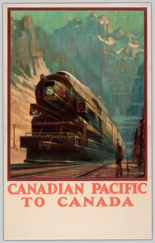 Alfred Crocker Leighton (1901-1965) Canadian travel poster 1933