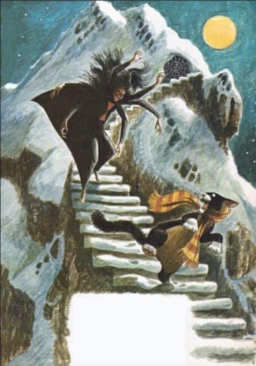Baba Yaga stories in Jack and Jill Magazine illustrated by Ursula Koering