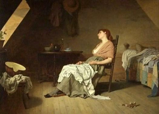 Edward Radford (British, 1831 - 1920) The Song of the Shirt 1887 bedroom