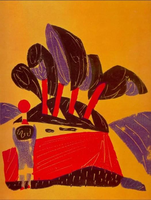 HERZAUGE (1937) Hap Grieshaber trees