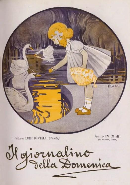 Il giornalino della Domenica cover by Ottorino Adreneini, 1909