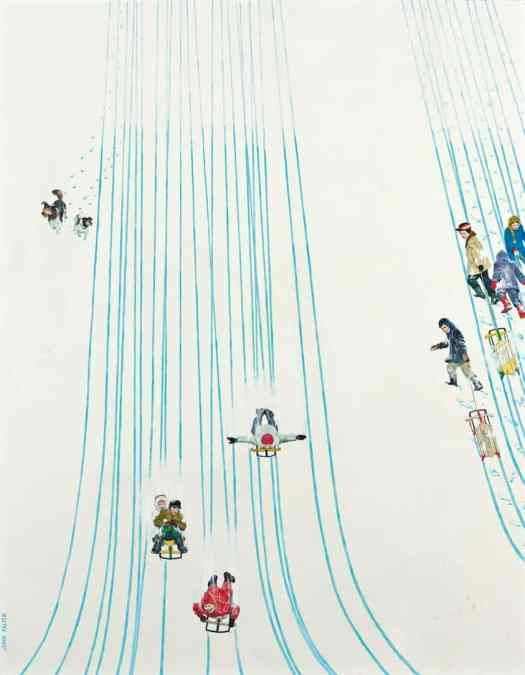 John Philip Falter (American,1910-1982) - Swell Ride Down, 1961 slope