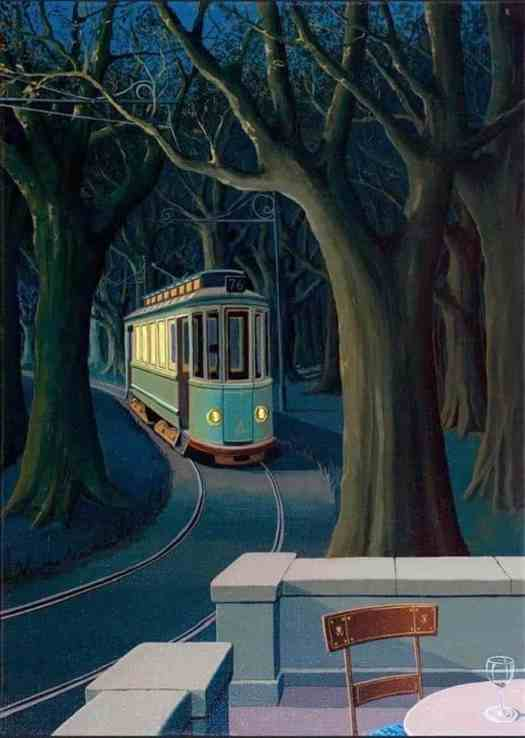 Joop Polder Tram In The Forest 1970's