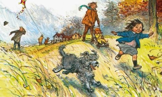 Kite flying by Shirley Hughes
