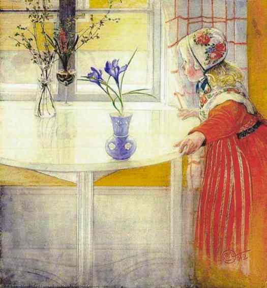 LillAnna and the crocus 1912 by Carl Larsson