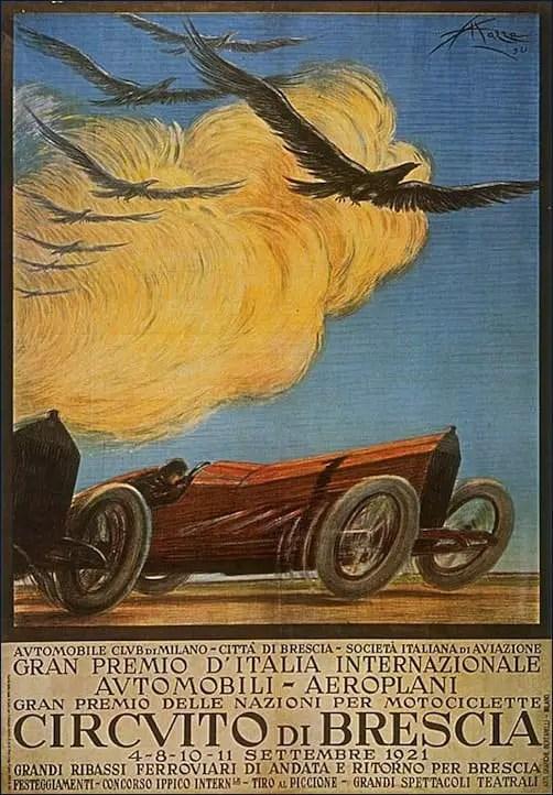 Poster by Aldo Mazza, 1921