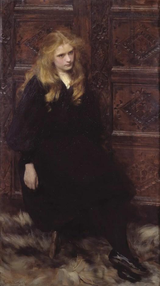 Ralph Peacock Ethel 1897 girl black