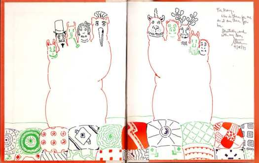 Seymour Chwast, Sleepy Ida and Other Nonsense Poems by Steven Kroll, 1977 (endpapers)