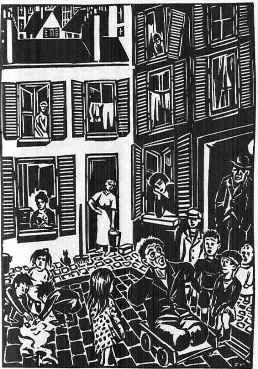 The City By FRANS MASEREEL (London 1988 - originally published by Kurt Wolff Verlag, Munich 1925 as DIE STADT washing