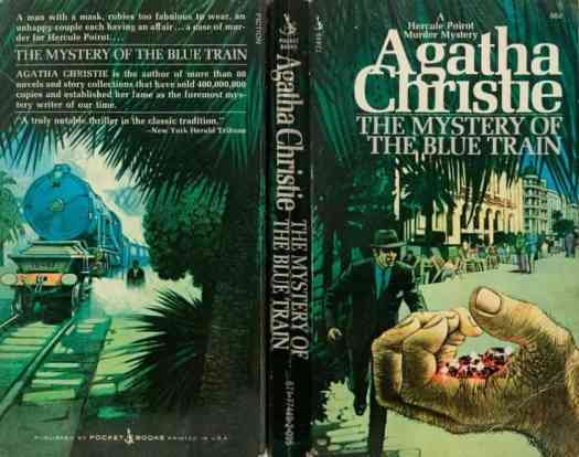 The Murder of the Blue Train by Agatha Christie illustration by Tom Adams