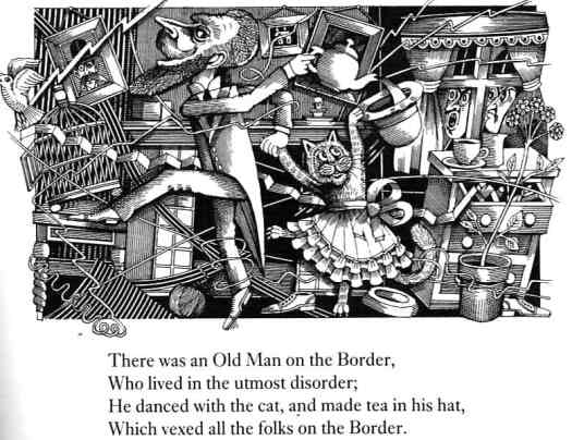 The Nonsense Verse Of Edward Lear Illustrated By John Vernon Lord 1984 utmost disorder