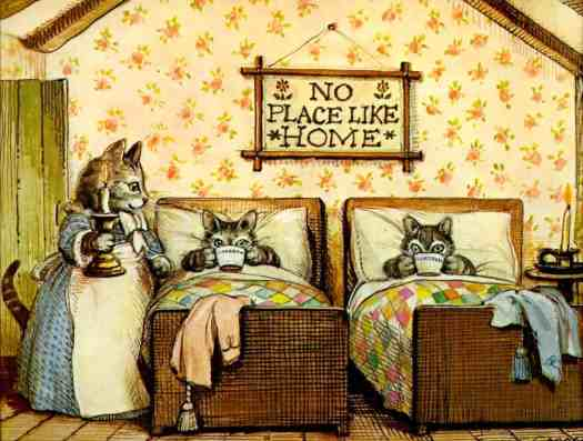 The Surprise Picnic 1976 John S. Goodall bedroom