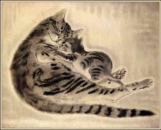 Tsuguharu Foujita (Japanese-French, 1886-1968) from Book of Cats, 1930