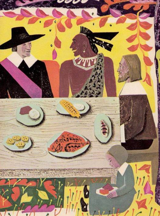 from The Thanksgiving Story written by Alice Dalgliesh illustrated by Helen Sewell 1954