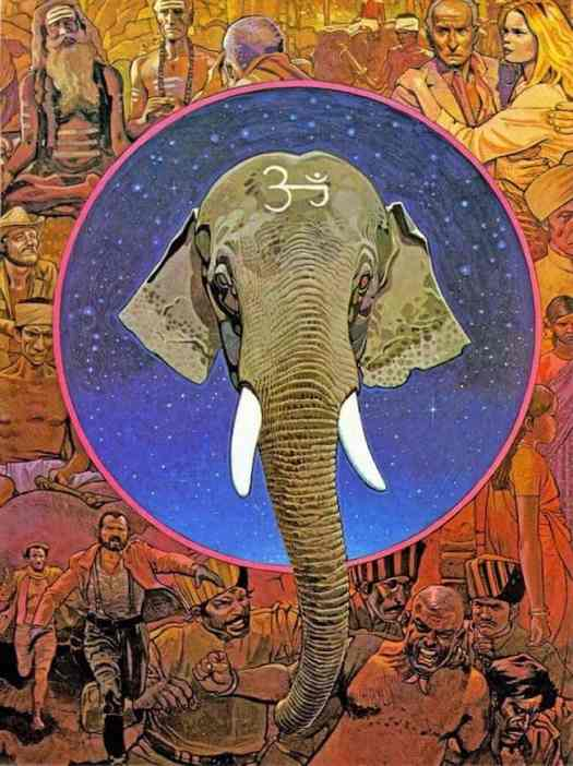MOEBIUS ~  Tusk - movie poster art - 1980 elephant