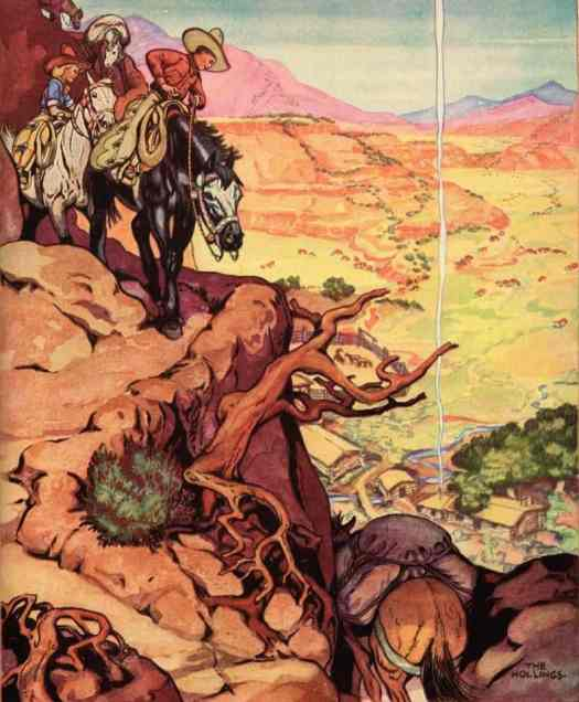 The Book of Cowboys. Holling C. Holling.1932 cliff