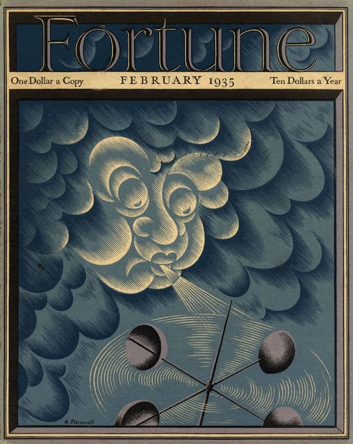 1935 February, cover by Antonio Petruccelli wind