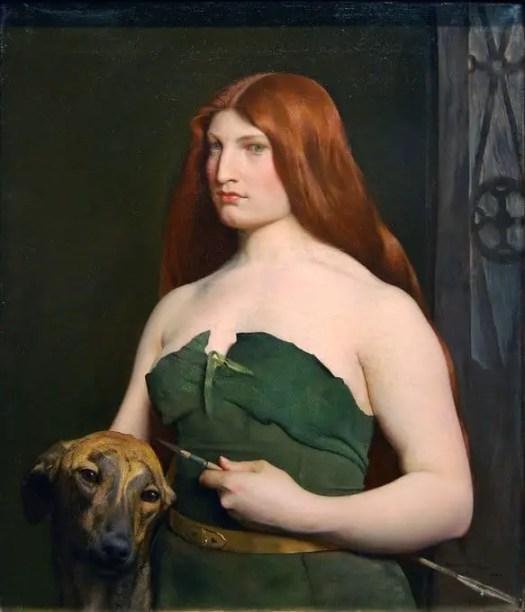 A Celtic Huntress, George de Forest Brush, 1890