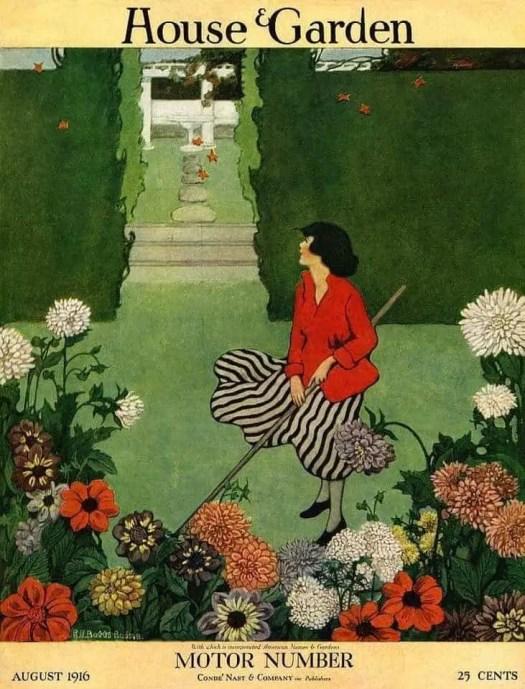 Art by Ethel Franklin Betts Bains 1916 wind garden