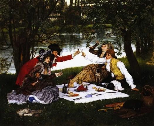 James Jacques Joseph Tissot - La Partie Carrée picnic