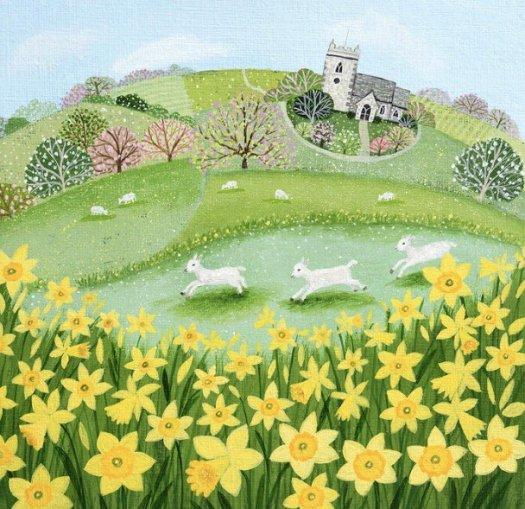 Lambs and Daffodils, by Lucy Grossmith