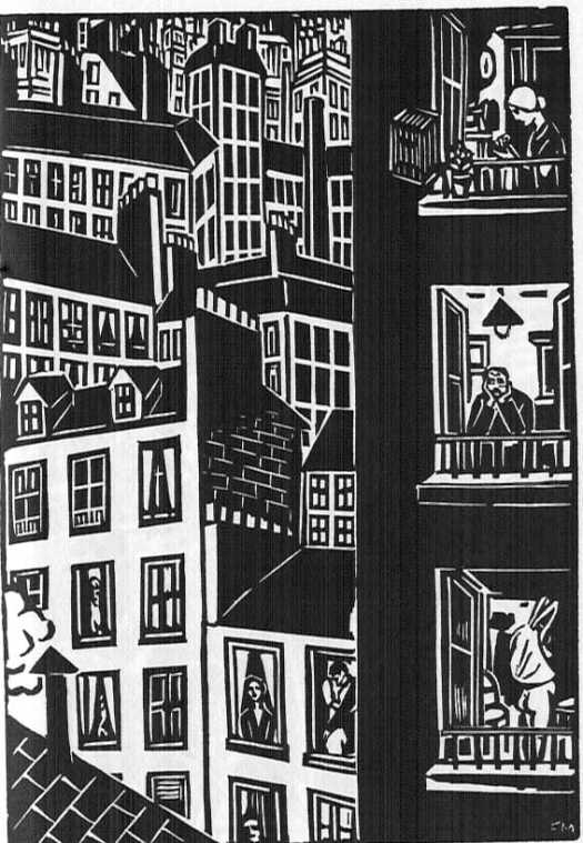 The City By FRANS MASEREEL (London 1988 - originally published by Kurt Wolff Verlag, Munich 1925 as DIE STADT window