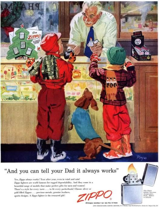 Zippo Christmas shopping advertisement