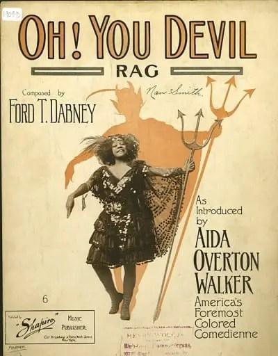h! You Devil! Aida Overton Walker sheet music, 1909