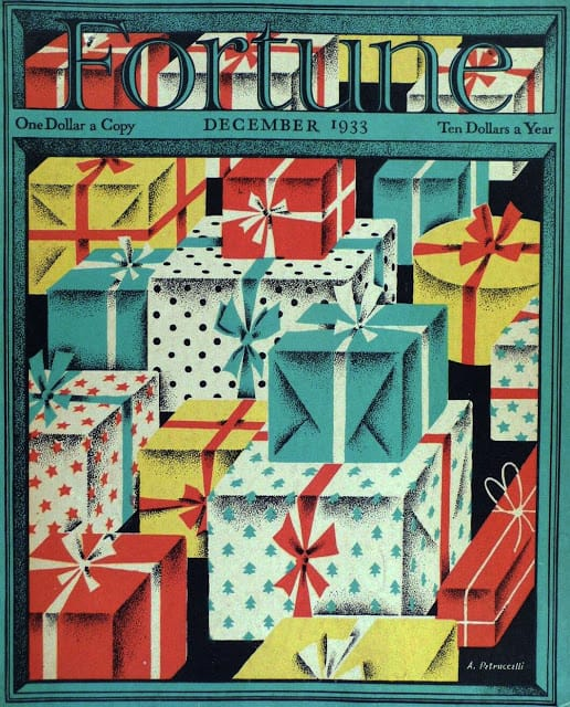 1933 December, cover by Antonio Petruccelli gifts
