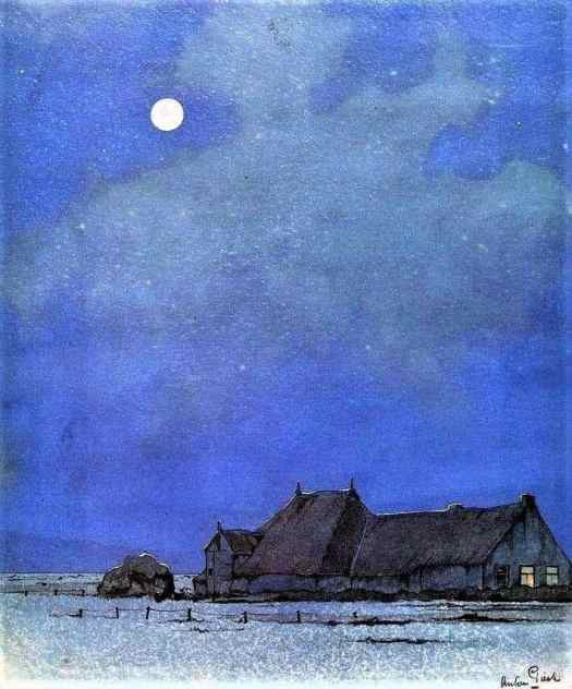 Anton Franciscus Pieck - Dutch 1895-1987 'Moonlit Night' 1941