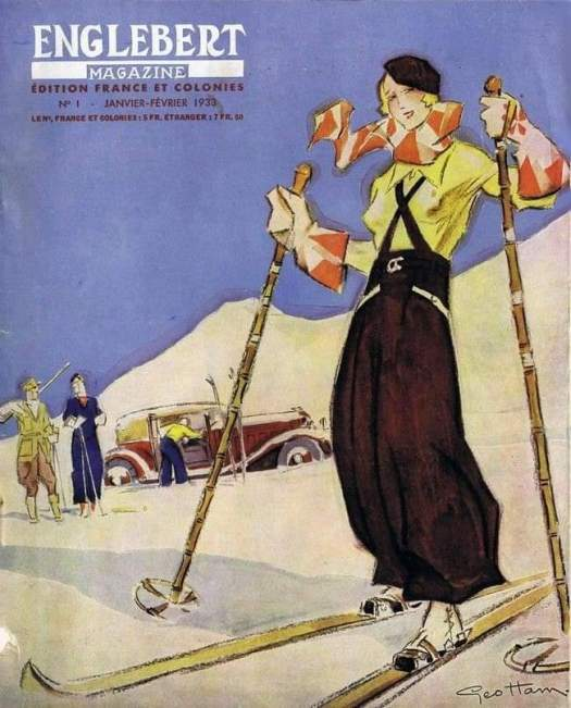 Englebert Magazine Jan-Feb 1933 cover by Geo Ham