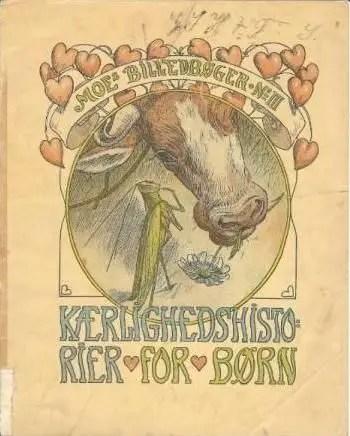 'Kærlighedshistorier for børn' - Love Stories for Children Cover illustration by Louis Moe (1857-1945)
