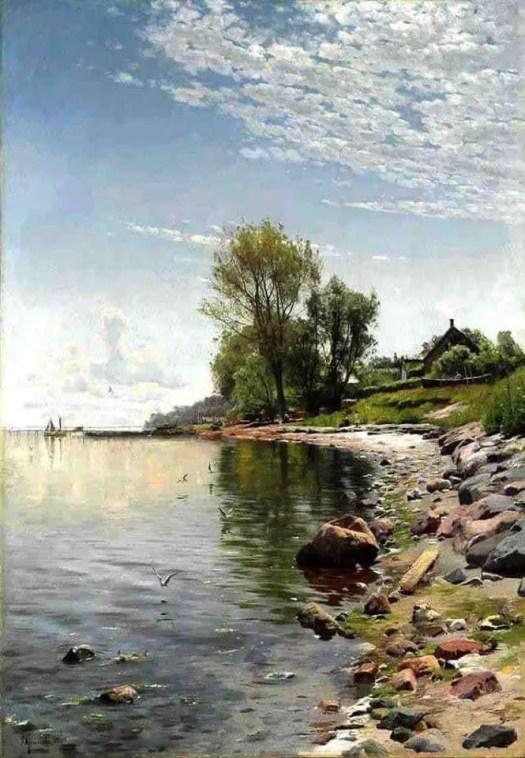 Peder Mørk Mønsted (Danish, 1859 - 1941) Coastal View, 1900