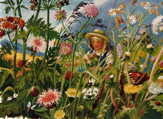 Flower meadow in a book by Peter Leitheim