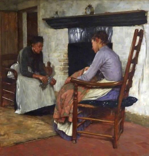 Henry Herbert La Thangue Some Poor People Sewing