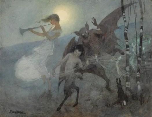 Hilda Hechle (1886- 1939) 1930 A Moonlight Phantasy