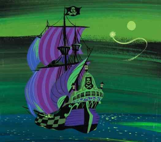 Mary Blair (1911 - 1978) 1953 illustration for Disney's Peter Pan