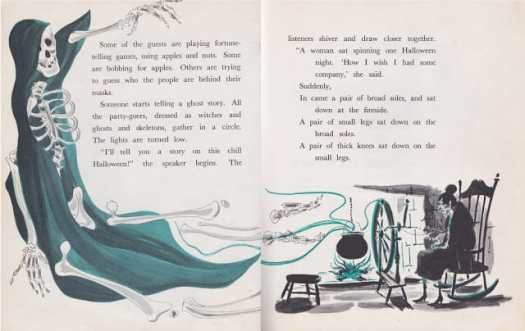 Halloween A Holiday Book by Lillie Patterson, illustrated by Gil Miret (1963) hearth