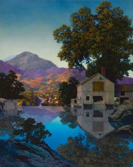 Maxfield Parrish Mill Pond 1945